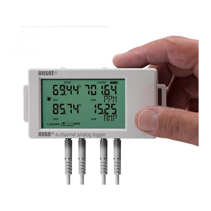 16 Channel Temperature Data Logger Voltage : Channel hobo data logger with display