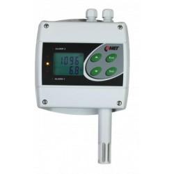 H6520 Temperatura, Humedad y nivel de CO2 (Remoto Ethernet y dos Relés)