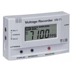 VR-71 Registrador de Datos para Voltaje (2 Canales)