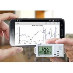 MX1101 Registrador Temp/HR Bluetooth para Interior