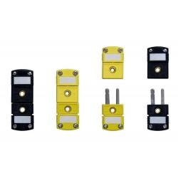 ST/E Conectores para tipo de termopares K (NiCr-Ni), J (FeCu-Ni)