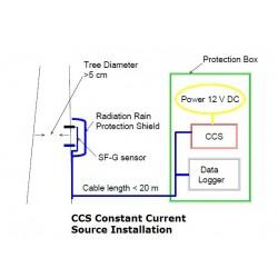 CCS Fuente de Alimentación de Corriente Constante para los sensores de Flujo de Savia Ecomatik