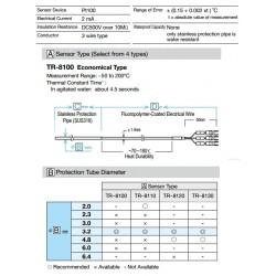TR-8100 Sensor Pt100  económico Rango -50ºC a +200ºC