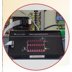 Scientech2421 Controle de nível de água por PLC