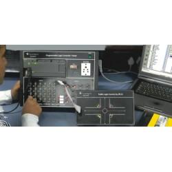 Scientech2423A Tráfego controlador PLC