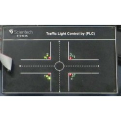 Scientech2423A Traffic Light Control by PLC