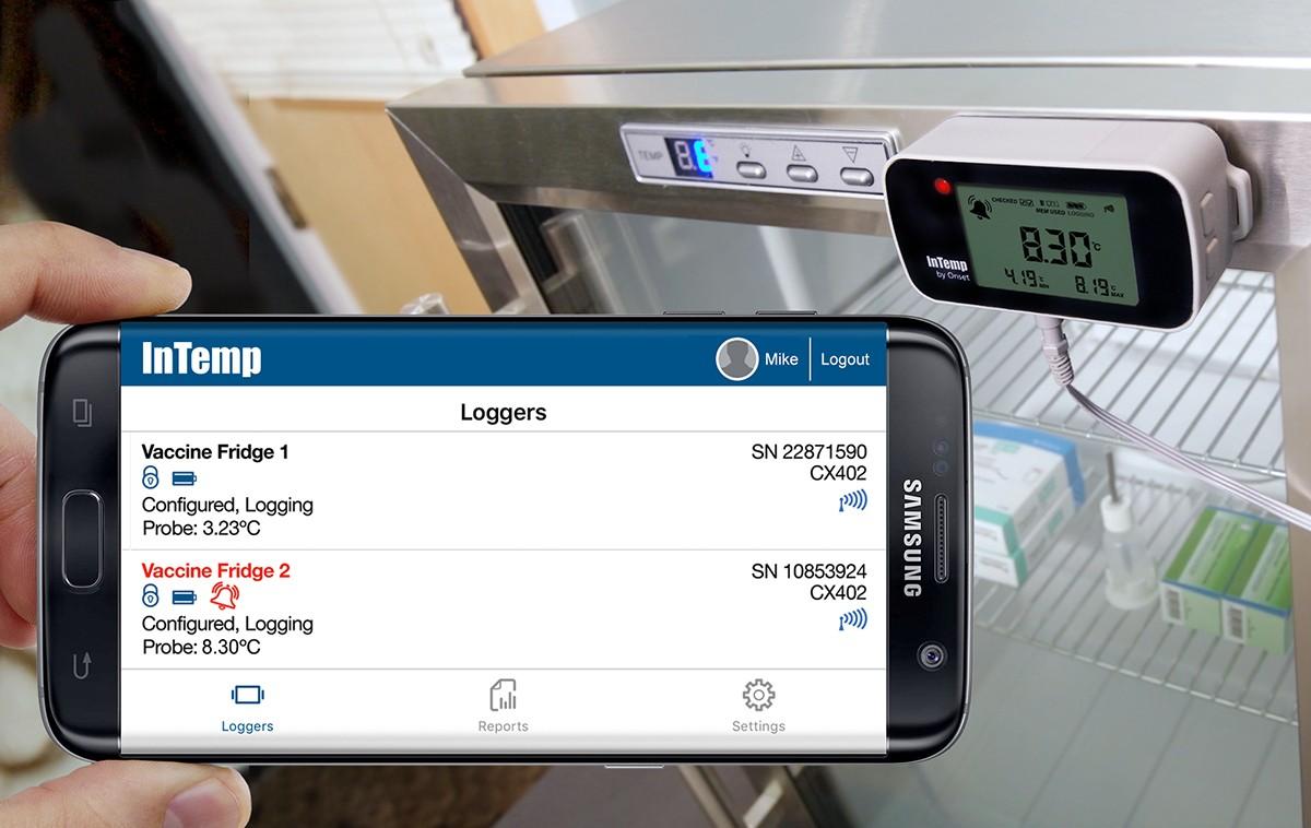 CX400 registrador-datos-bluetooth-temperatura-farmacia-vacunas