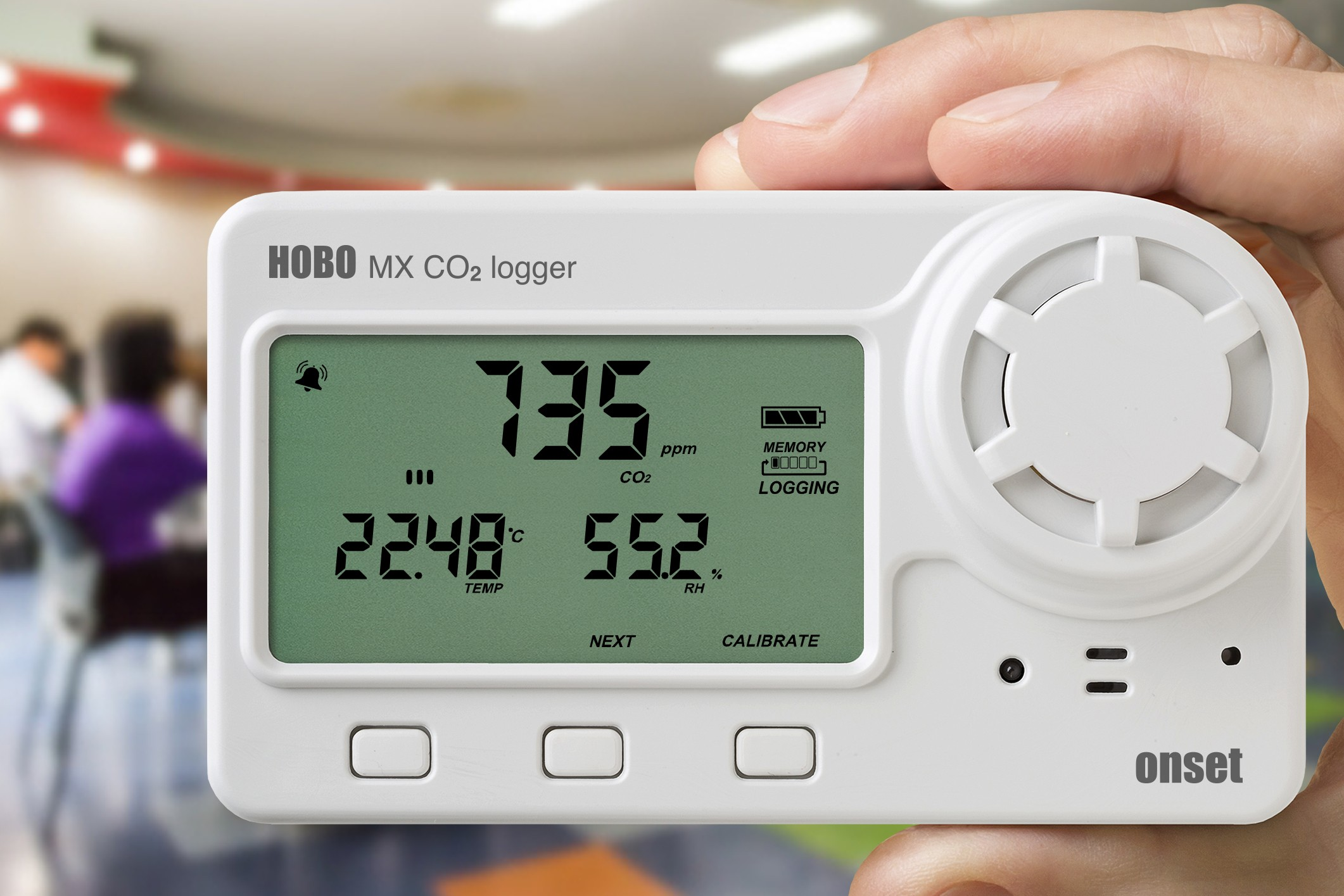 MX1102 Datalogger Bluetooth Temperatura, Humedad Relativa, CO2