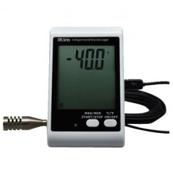 AO-DWL-20E Registrador de Datos de Humedad y Temperatura USB con Sonda Externa LCD Grande y Alerta de Luz y Sonido
