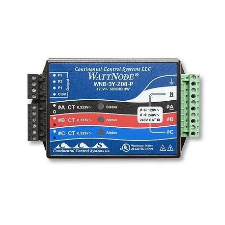 T-WNB-3Y-208 Transductor de Potencia KW/h de 1, 2, ó 3 Fases