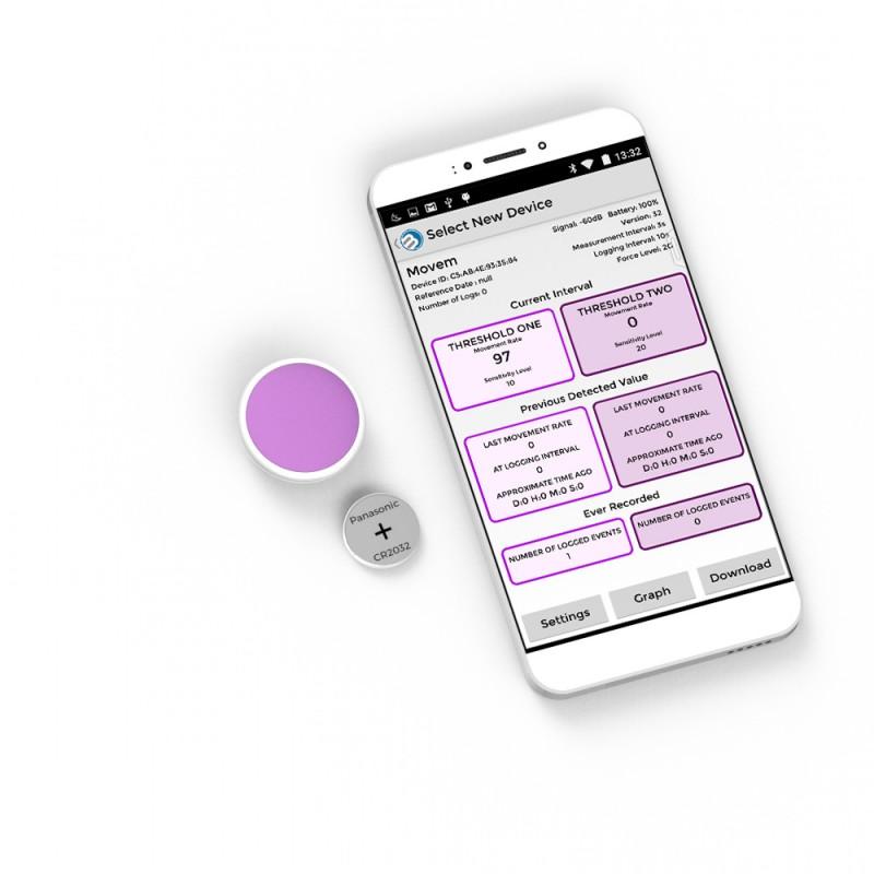 Bm Movement Tempo Disc Bluetooth Motion And Shock Sensor