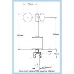 A100LK / A100LM Anemómetros de Baja Potencia (Salida de Pulsos / Frecuencia)