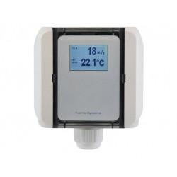FS5020 Transductor de flujo para conducto, flujo de aire laminar y temperatura, salida activa (0-10 V o 4-20 mA)