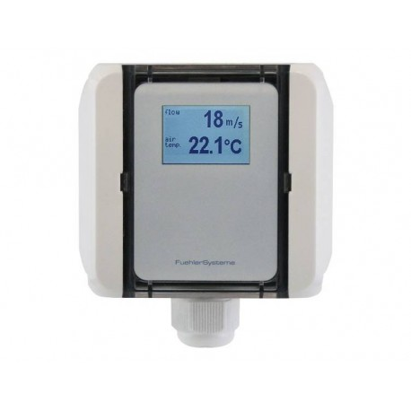 FS5020 Flow transducer for duct, laminar airflow and temperature, active output (0-10V or 4-20mA)