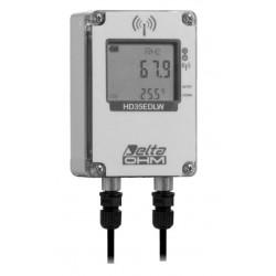 HD 35EDW 1NR TC Registrador de Datos Inalámbrico de Temperatura, Humedad y Radiación Solar