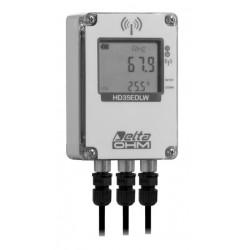 HD 35EDW 1N7PR TC Registrador de datos inalámbrico de Humedad, Radiación Solar, Temperatura Ambiental y del Panel Solar