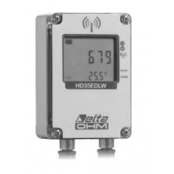 HD 35EDW NP TC Registrador de Dados sem fio da Quantidade e da Temperatura da Precipitação