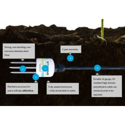 HydraProbe Sensor de Humedad de Suelo