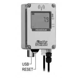 HD 35EDWP TC-ALM Registrador de Datos Inalámbrico de Cantidad de Lluvia (con salida de contacto de alarma)