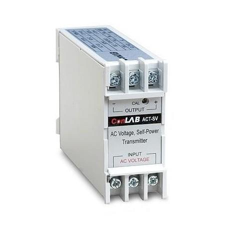 T-CON-ACT-300 Transductor de Voltaje ConLab de 0-300 Vac y salida 4-20 mA