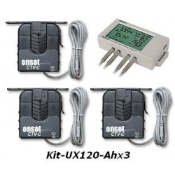KIT-UX120-A/hx3 HOBO AC Current Monitoring Kit (A/h Three Phase)