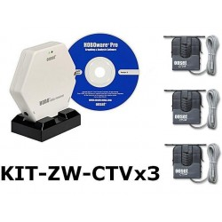 KIT-ZW-CTVx3 Wireless HOBO Logger Kit for AC Current A/h Three Phase""""