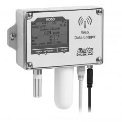 HD 50 14bNB… TV Registrador de Dados de Temperatura, Umidade, Pressão Atmosférica e Dióxido de Carbono (CO2)