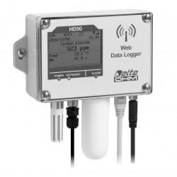 HD 50 1NB…I…TCV Registrador de Dados para Temperatura, Umidade, Dióxido de Carbono e Iluminância