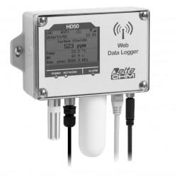 HD 50 14bNB…I… TCV Registrador de Datos de Temperatura, Humedad, Presión Atmosférica, Dióxido de Carbono e Iluminancia