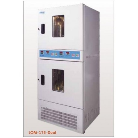 LOM-175-DUAL Incubadora dual refrigerada (0°C a 70°C) 250 rpm