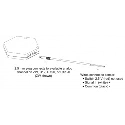 CABLE-2.5-STEREO Cabo Adaptador de Entrada para Tensões de 0 a 2,5 VDC