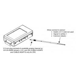 CABLE-ADAP10 Cabo de Entrada Externa HOBO para Medir a Tensão DC: 0-10 VDC Máx