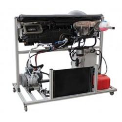 MSC3-B Plataforma de Treinamento de Climatização e Ar Condicionado de Dupla Zona com Aquecedor Auxiliar