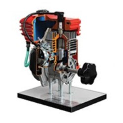 AE37450 2 Stroke Petrol Engine Cutaway Model