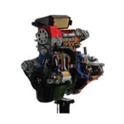 AE35222IE FIAT Petrol Engine with Multipoint Electronic Injection and Gearbox Cutaway Model