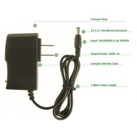 Power Supply Adapter (9V 1A)