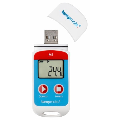 Tempmate-M1 Temperature Data Logger with Display (unit)