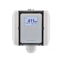 CO2 air quality sensor with measurement range switch
