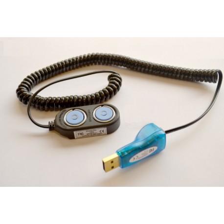 """DS1402DX """"Cable Blue Dot  DS1402D-DR8"""" + """"1-Wire DS9490R"""" para iButton"""
