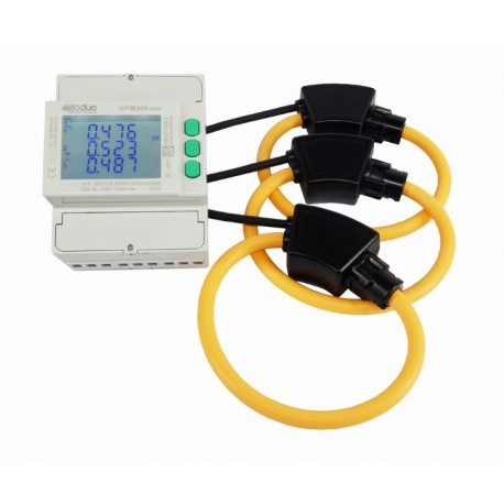 UPM209RGW Multifunction three-phase meter with 4 DIN modules (includes Rogowski coils)