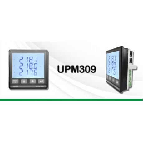 UPM309 Analizador de Redes Eléctricas Trifásico Multifunción DIN 96x96