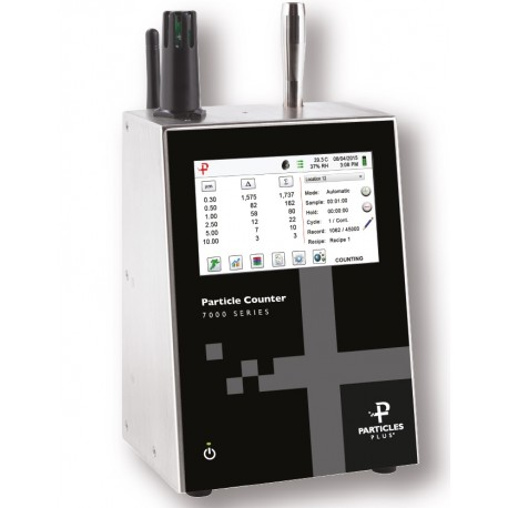 7301 Remote Particle Counter 0.3 – 25 µm @ 0.1 CFM with long-life internal pump & battery