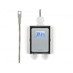 AO-FS1051 Transductor de temperatura con sensor de superficie con punta de acero inoxidable, salida Modbus RTU