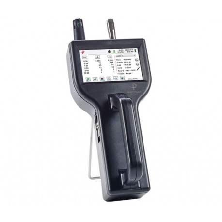 8506 Particles Plus® 8506 Handheld Particle Counter measures 0.5 to 25.0 μm with a flow rate of 0.1 CFM (2.83 LPM)