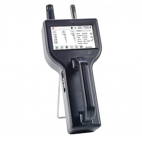 8303 Handheld Particle Counter measures 0.3 to 25.0 μm with a flow rate of 0.1 CFM (2.83 LPM).