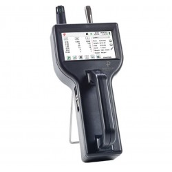 8503 Handheld Particle Counter measures 0.5 to 25.0 μm with a flow rate of 0.1 CFM (2.83 LPM).