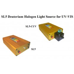SL5-DH UV-VIS Tungsten Halogen + Deuterium Lamps UV & Visible range from 190-2500nm