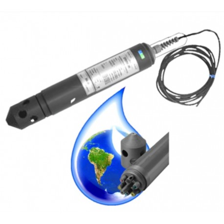WMP6-DL con Data Logger+Sensor Multiparámetro (Ph-Nivel-Temp.-CE-ORP-O2+1 canal)