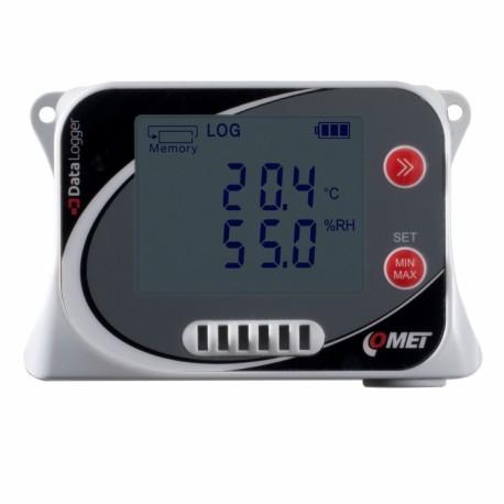 U3120 Registrador de Datos de Temperatura y Humedad con sensores incorporados (-30 a +70°C) (0 a 100%) (opción GSM IoT)