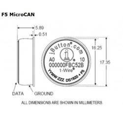 DS1920-F5  Termómetro de Temperatura Económico iButton (-55°C a +100°C)